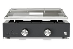 Plancha gas 2 bruciatori acciaio inossidabile Simplicity
